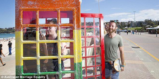 Gökkuşağı Telefon Kulübesi: Avustralya'da Evlilik Eşitliği