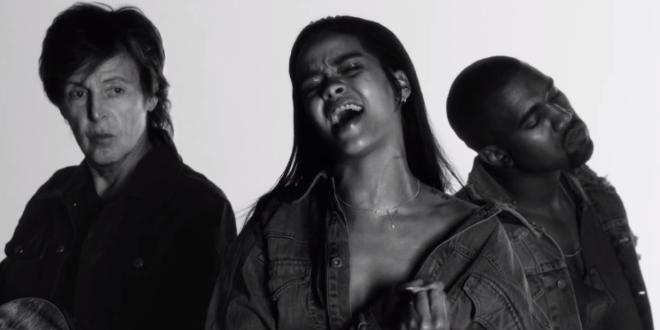 Rihanna'nın Yeni Klibi FourFiveSeconds Yayınlandı!