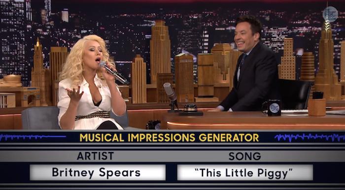 Christina Aguilera Britney Spears Taklidiyle Salladı!