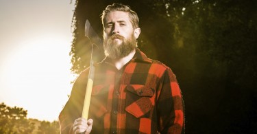 backlit lumberjack