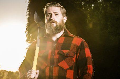 backlit lumberjack