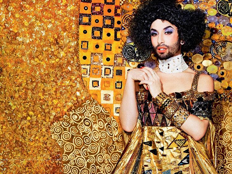 Conchita HIV'e Karşı Altınlar İçinde