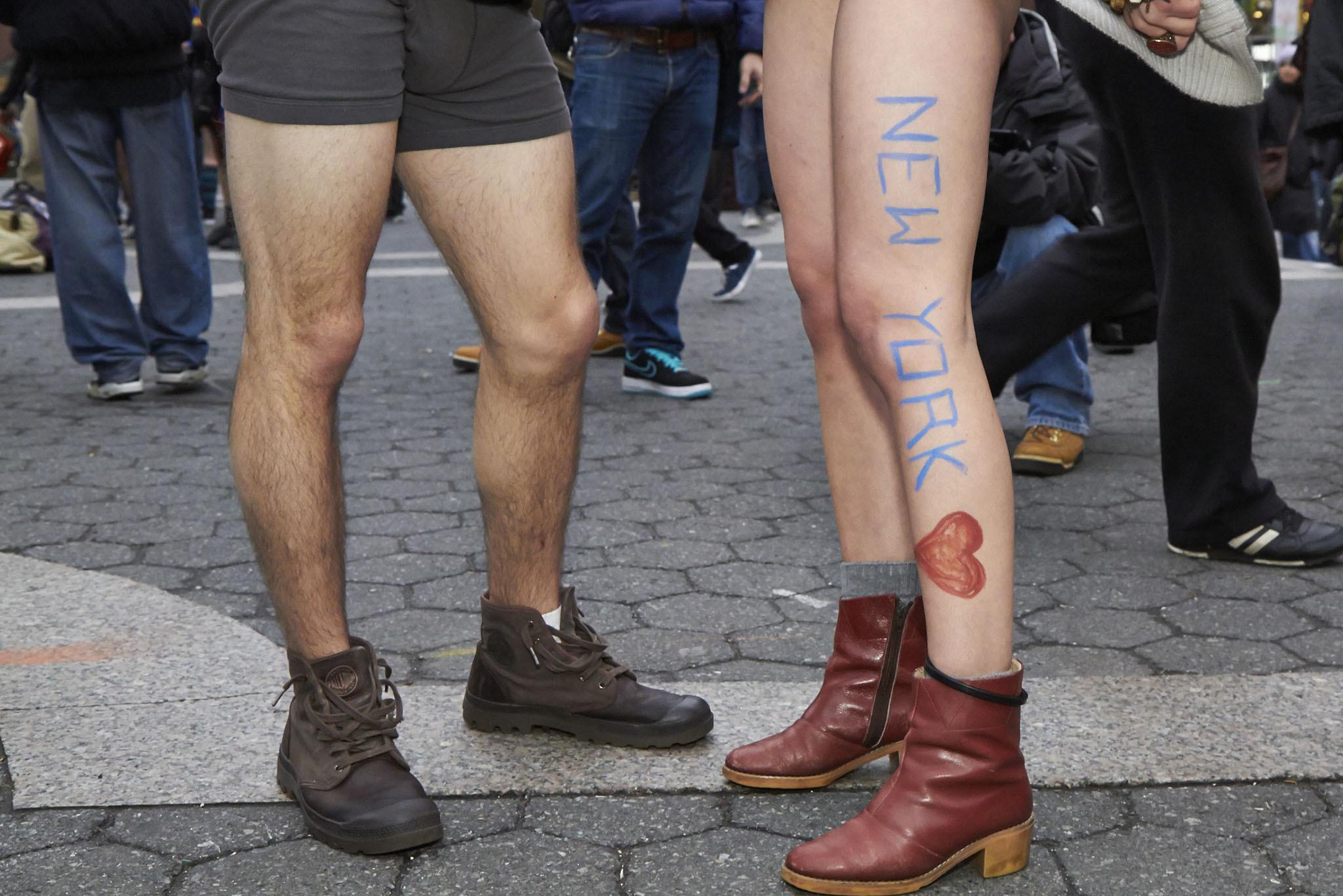 Fotoğraflarla Geleneksel 'Pantolonsuz Metro Turu'