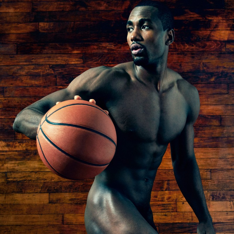 SERGE IBAKA Photographed by Peter Hapak on January 30, Brooklyn, NY.  Credits: HAIR BY CHRIZO GROOMING BY COURTNEY PERKINS/TRACEY MATTINGLY PROP STYLING BY LIZZIE LANG/APOSTROPHE