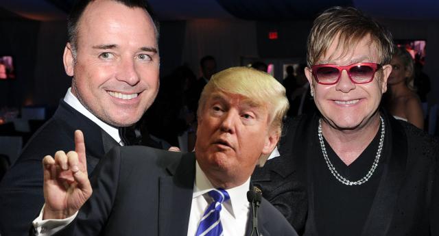 Trump Elton John'un Eşcinsel Evliliğini Kutlamış!