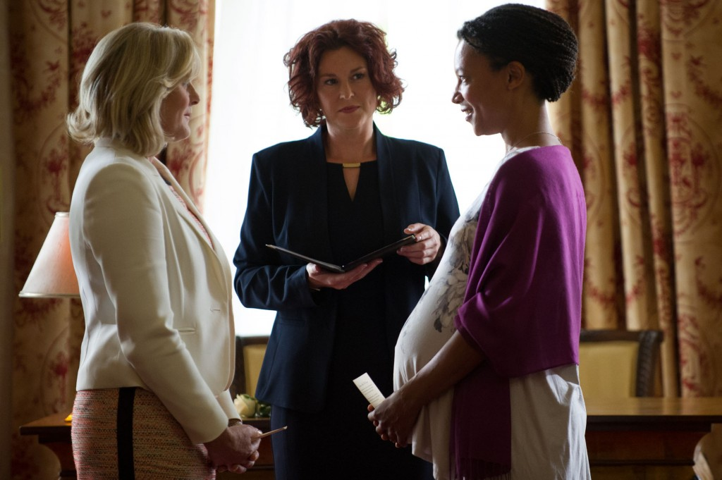 WARNING: Embargoed for publication until: 06/01/2015 - Programme Name: Last Tango In Halifax Series 3 - TX: 11/01/2015 - Episode: n/a (No. 3) - Picture Shows: Caroline (SARAH LANCASHIRE), Kate (NINA SOSANYA) - (C) Red Productions - Photographer: Vishal Sharma