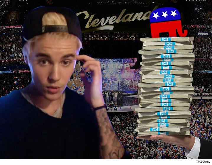Justin Bieber 5 Milyon Dolarlık Cumhuriyetçi Parti Konserini Reddetti