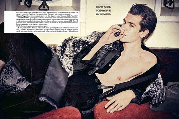 Seksi Oyuncu Andrew Garfield Vogue İtalya İçin Küvette Muz Yedi