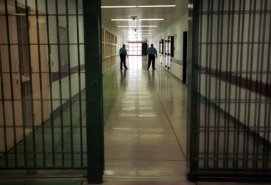 (B30)  Officers at the Cumberland County Prison walk the halls in this Thursday, April 3, 2003, file photo in Carlisle, Pa. Most Pennsylvania county prisons last year did not comply with at least one of the 25 operational standards required under state law, according to the results of Corrections Department inspections released Wednesday, June 29, 2005. The Cumberland County Prison scored 92 percent in 2004 and 2005. (AP Photo/Carolyn Kaster)