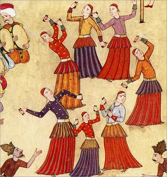 minyatur4-muzik-esliginde-dans-eden-rakkaseler