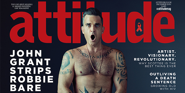 İngiliz Pop İkonu Robbie Williams, Attitude Kapağında!