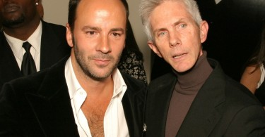 NEW YORK - OCTOBER 20:  (L-R) Fashion designer Tom Ford and partner journalist Richard Buckley at the book launch party for 'Tom Ford:Ten Years' at Bergdorf Goodman October 20, 2004 in New York City. (Photo by Bowers/Getty Images).