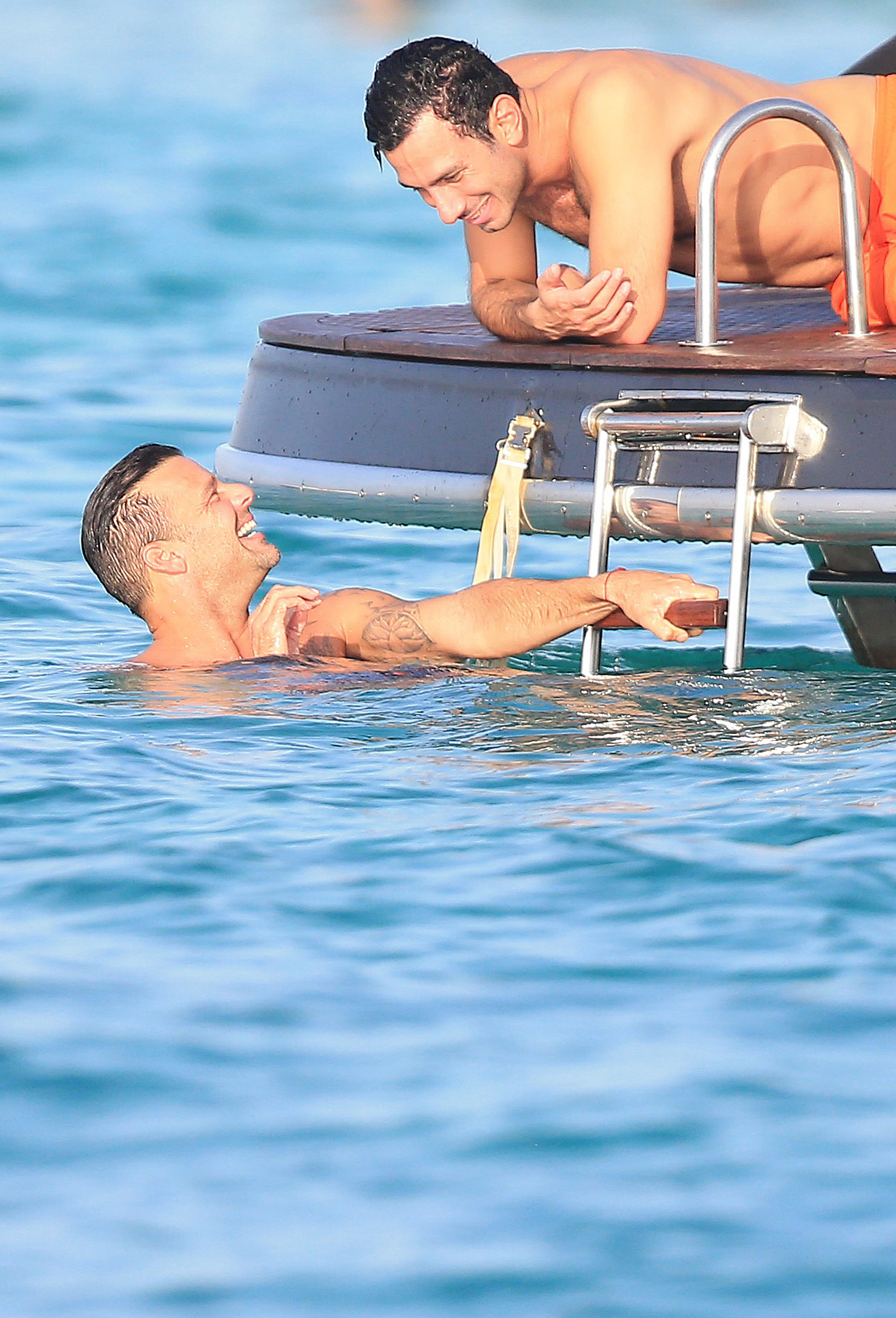 Exclusive... 52164708 Singer Ricky Martin with boyfriend Jwan Yosef and friend model Esther Canadas during holidays in Ibiza, Spain on September 6, 2016. The group enjoyed a relaxing time out on a boat. They laid out in the sun, swam, and relaxed together.  FameFlynet, Inc - Beverly Hills, CA, USA - +1 (310) 505-9876 RESTRICTIONS APPLY: USA/AUSTRALIA ONLY