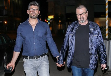 EXCLUSIVE: George Michael seen out and about with his boyfriend, Fadi Fawaz in Zurich, Switzerland. (Picture taken:04/07/2015)  Pictured: Fadi Fawaz and George Michael Ref: SPL1069923  120715   EXCLUSIVE Picture by: Splash News  Splash News and Pictures Los Angeles:310-821-2666 New York:212-619-2666 London:870-934-2666 photodesk@splashnews.com