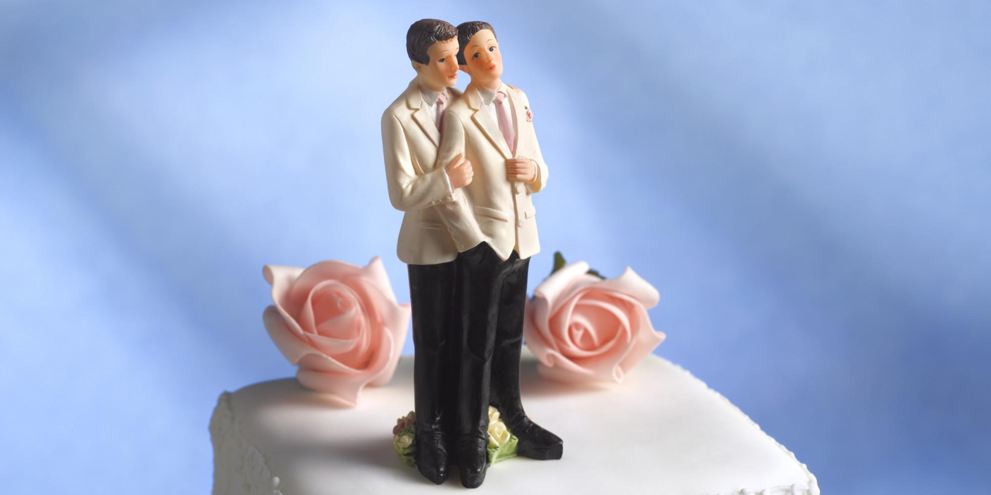 Gay male wedding figurines