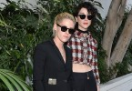 LOS ANGELES, CA - OCTOBER 26:  Actress Kristen Stewart and musician Annie Clark of St. Vincent at the CFDA/Vogue Fashion Fund Show and Tea presented by kate spade new york at Chateau Marmont on October 26, 2016 in Los Angeles, California.  (Photo by Stefanie Keenan/Getty Images for CFDA/Vogue )