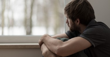 Young man suffering for depression