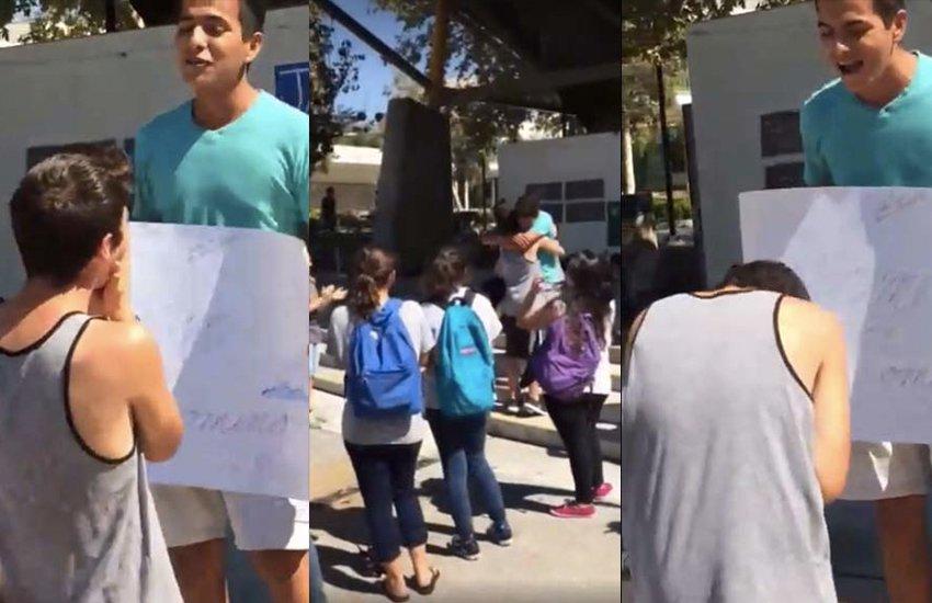 İzleyin: Lise Öğrencisinin Sevgilisine Hazırladığı Bu Sürpriz Paylaşım Rekoru Kırdı