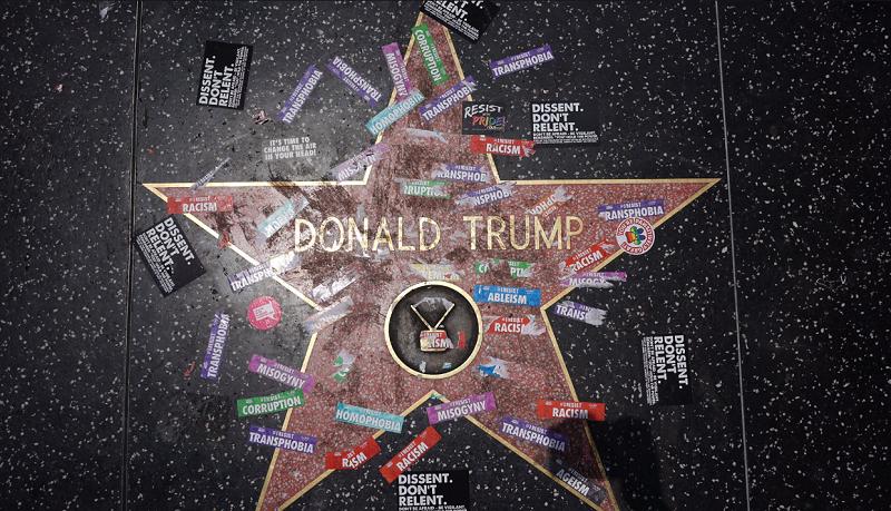 İşte Donald Trump'ın Hollywood Yolu'ndaki Yıldızı!