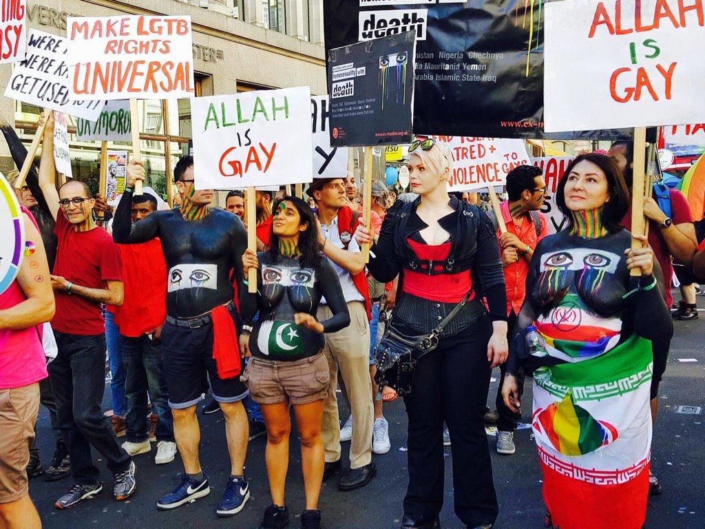 """Londra Pride'da İslamofobi: """"Allah Aslında Gay, Lanet Olası İslam!"""""""