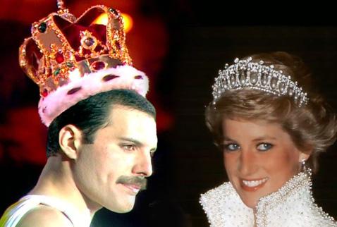 Freddie Mercury Prenses Diana'yı Drag Kostümüne Bürümüş
