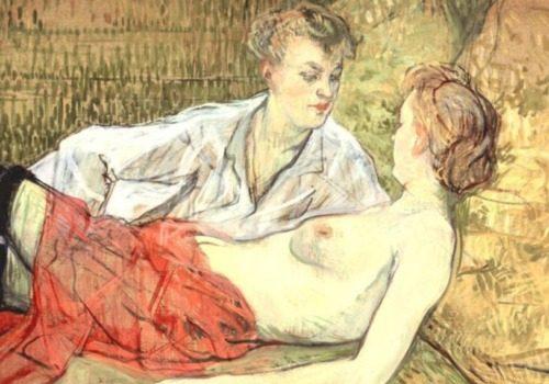 Ünlü Ressamın 1800'lerin Sonunda Yaptığı Lezbiyen Tabloları