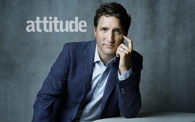 Kanada Başbakanı Justin Trudeau, Eşcinsel Dergisi Attitude'in Kapağı İçin Poz Verdi