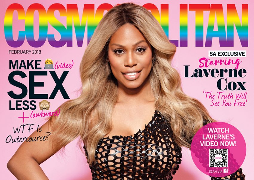Laverne Cox, Cosmopolitan'ın Kapağına Çıkan İlk Trans Kadın Oldu ve Harika Görünüyor!