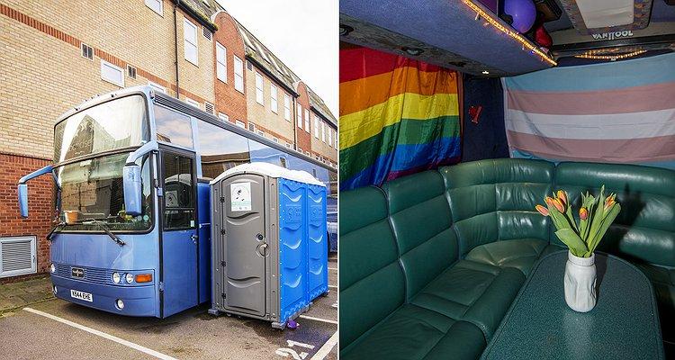 """Evsiz Lgbtlere """"Ev"""" Olması İçin Dönüştürülmüş Londra Otobüsü!"""