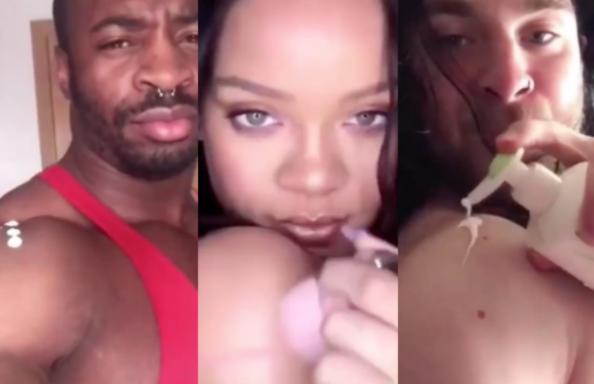 İzleyin: Rihanna'nın Losyon Sürmesini Taklit Eden Erkeklerin Videosu İnternette Viral Oldu!