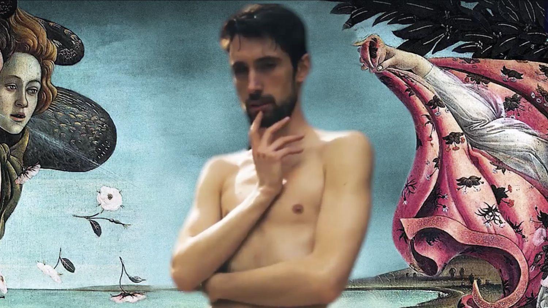 Ünlü Tabloların Önünde Çıplak Fotoğraf Çektiren Sanatçı: Adrián Pino Olivera