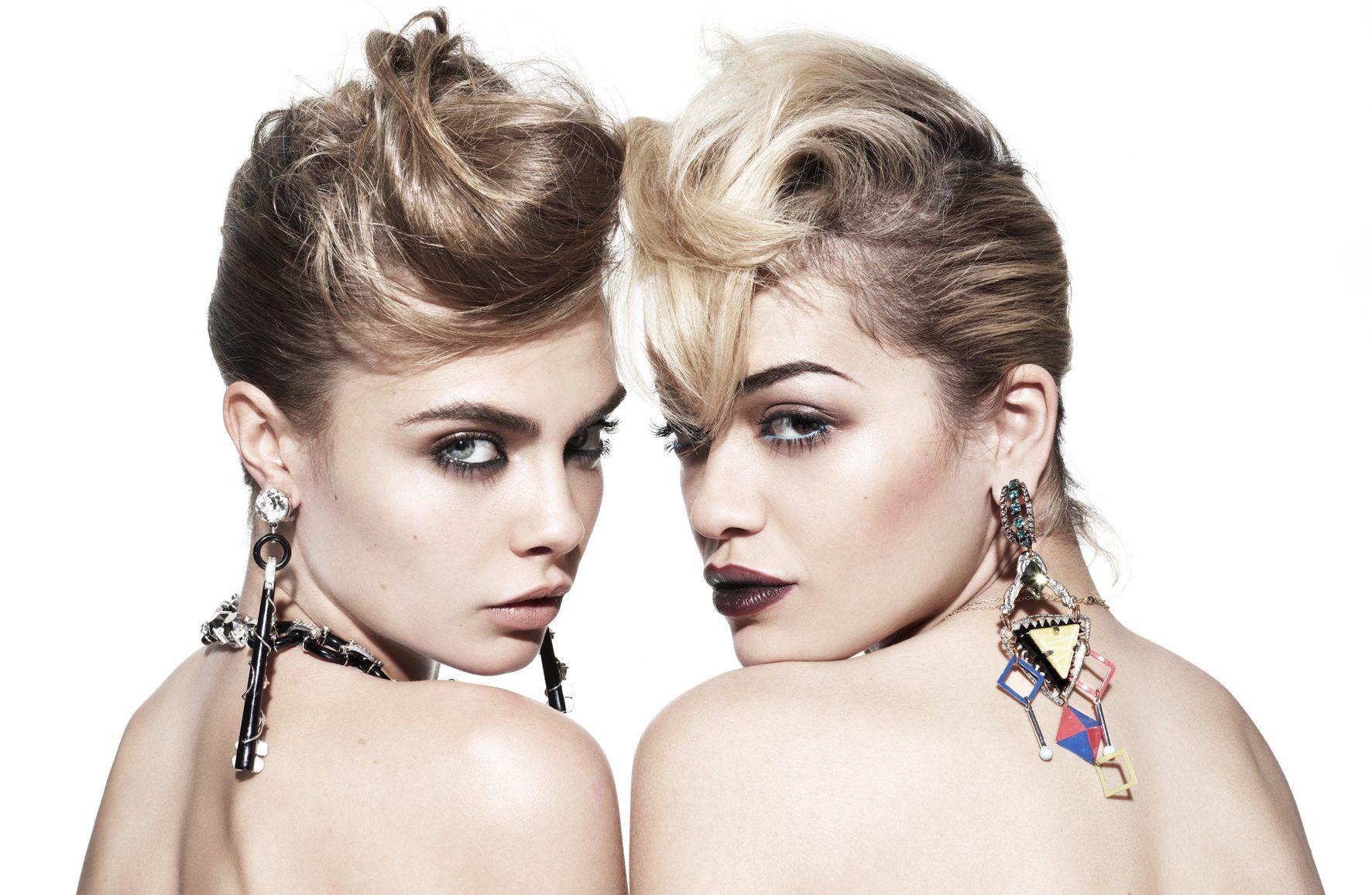 Cara Delevingne, Girls Şarkısı İçin Rita Ora'ya Destek Verdi!