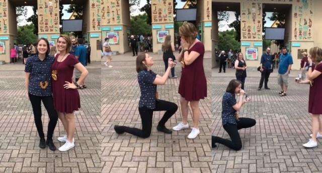İzleyin: Lezbiyen Çiftin Evlilik Teklifi Macerası Sosyal Medyada Viral Oldu