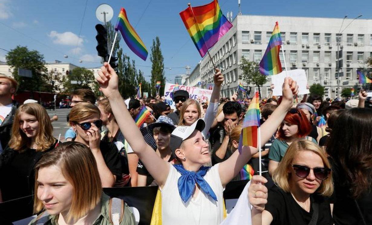 Kiev'de, LGBT Eşitliği İçin 6.000 Kişi Yürüyüş Yaptı