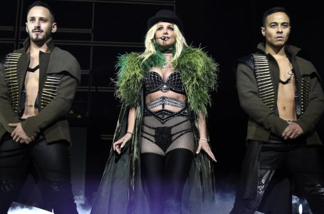 "NATIONAL HARBOR, MD – JULY 12:  Britney Spears performs on stage during her ""Piece of Me"" Summer Tour Opener at The Theater at MGM National Harbor on July 12, 2018 in National Harbor, Maryland.  (Photo by Kevin Mazur/BCU18/Getty Images )"