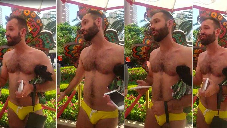 İzleyin: Slip Mayo Giydiği İçin Havuzdan Kovulan Eşcinsel Erkek İsyan Etti