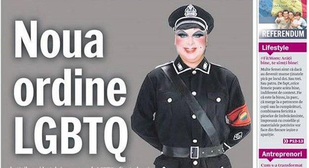 Romanya Gazetesinden Çirkin Kapak: Nazi Üniformalı Drag Queen