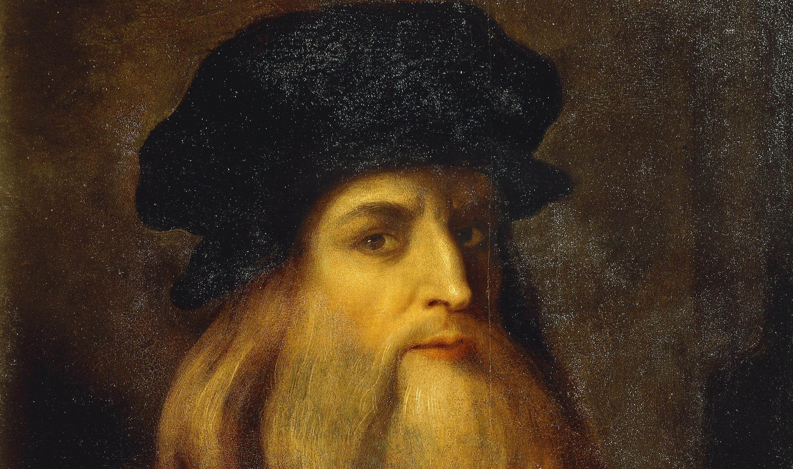 ITALY – APRIL 09:  Florence, Galleria Degli Uffizi (Uffizi Gallery) Presumed self-portrait by Leonardo da Vinci (1452-1519), an Unknown Artist. (Photo by DeAgostini/Getty Images)