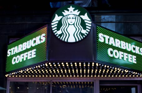 A Starbucks Coffee shop is shown, Thursday, March 19, 2015 in New York's Times Square.  (AP Photo/Mark Lennihan)