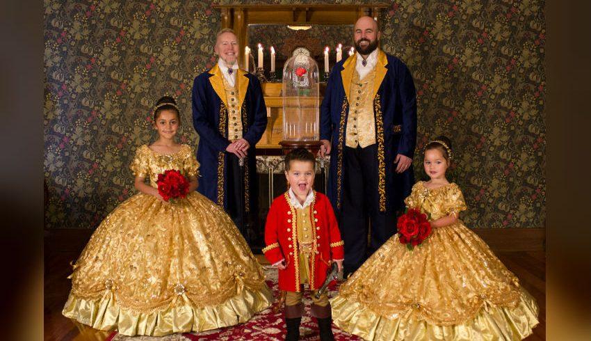 Eşcinsel Çiftin Çocuklarıyla Disney'den İlham Alarak Çektirdikleri Fotoğraflar Bir Harika!
