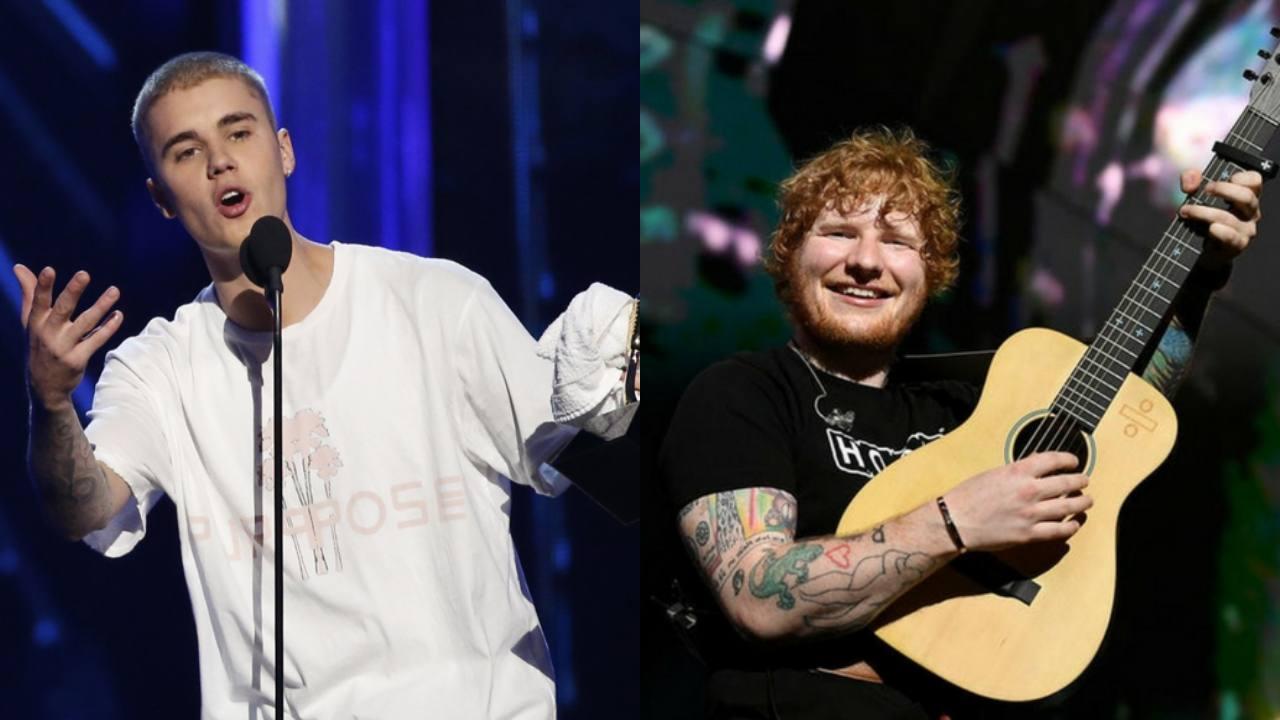Ed Sheeran ve Justin Bieber İşbirliklerini Harika Bir Poz ile Duyurdu