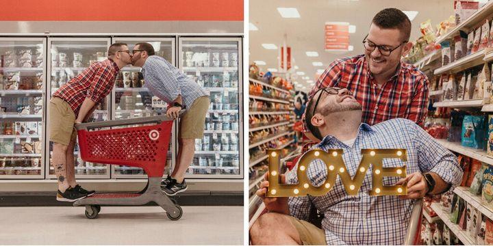 Nişan Fotoğraflarını Süpermarkette Çektiren Çift: İndirim Kovalarken Birbirimizi Bulduk