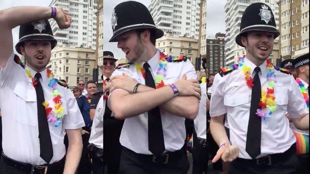İzleyin: İngiliz Polis, Dansıyla Onur Yürüyüşüne Damga Vurdu!