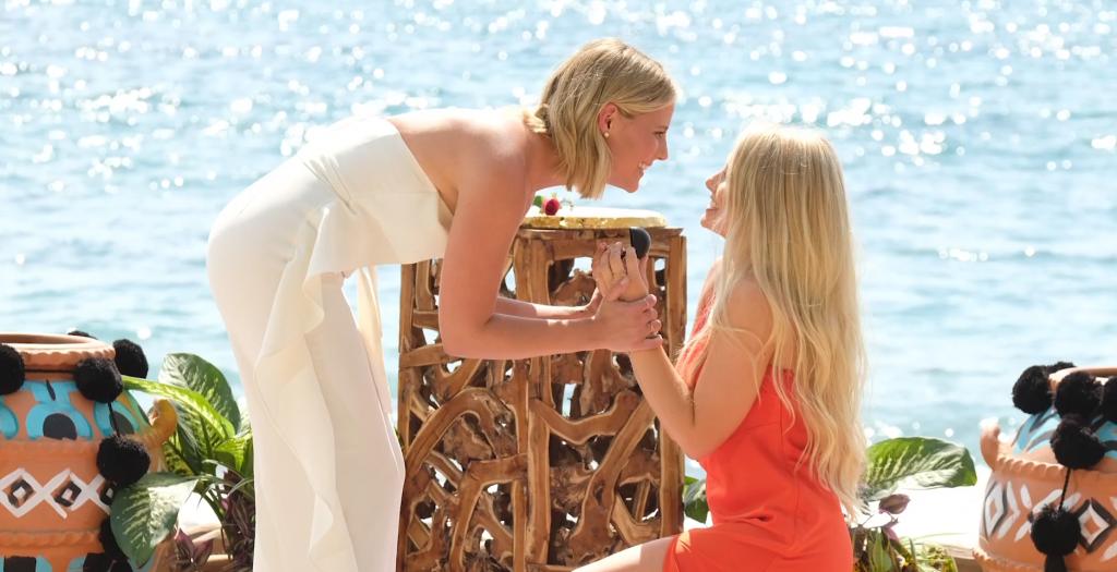 İzleyin: Lezbiyen Çift 'Bachelor in Paradise' Programının Finalinde Evlendi!