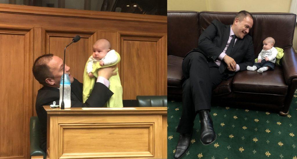 Meclis Oturumuna 6 Haftalık Bebeğiyle Gelen Gay Milletvekili Gündeme Oturdu!