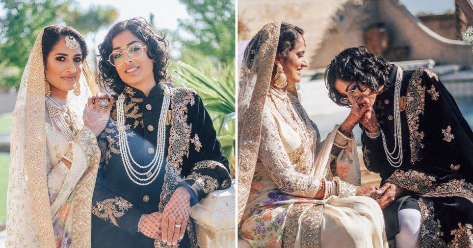 Paki – Hintli Lezbiyen Çiftten Dünyaya Meydan Okuyan Düğün!