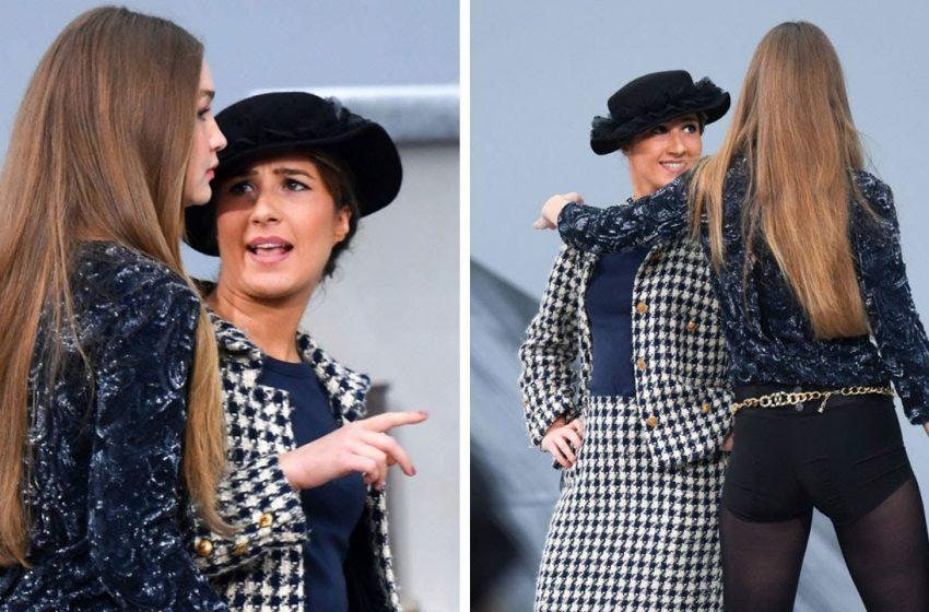 İzleyin: Gigi Hadid Chanel Defilesine 'Atlayan' Kadını Kolundan Tutarak Dışarı Attı!