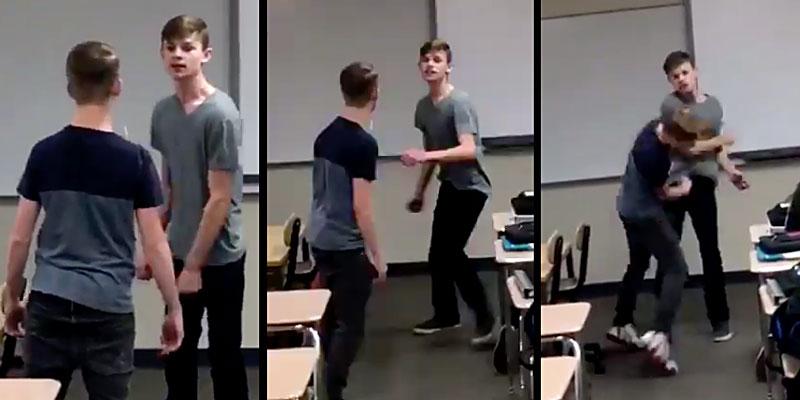 İzleyin: Kendisine Homofobik Hakaretler Eden Zorbayı Tokatlayan Çocuğun Videosu Viral Oldu!