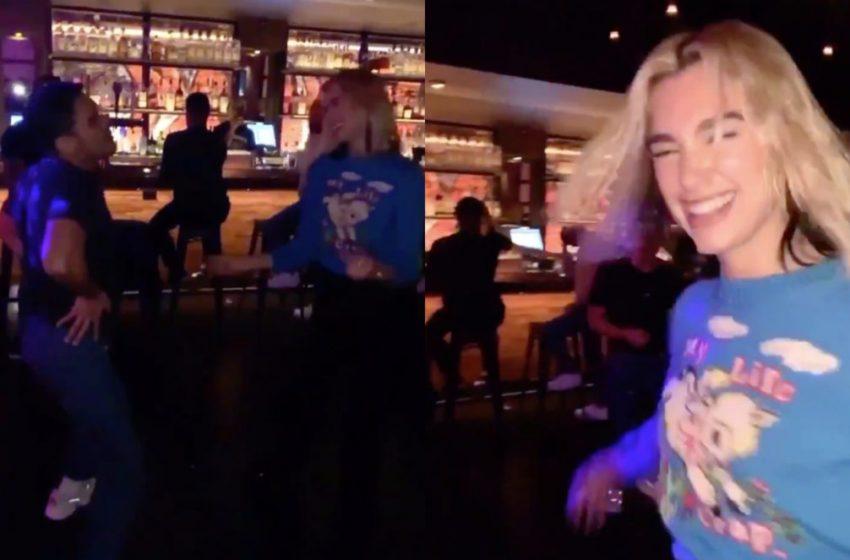 İzleyin: Dua Lipa Gay Barda Çılgınlar Gibi Eğlendi!