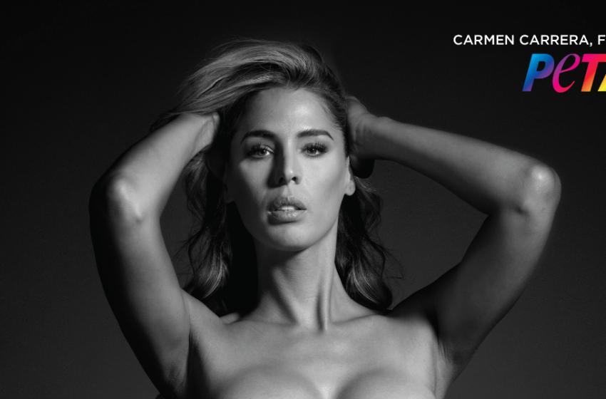 Trans Model Carmen Carrera, PETA'nın 'Kürke Hayır' Reklamı İçin Soyundu